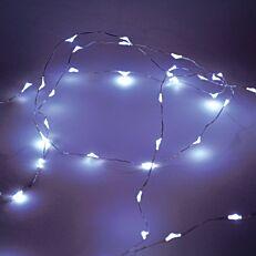 Φωτάκια Copper με ψυχρό φως 20 led μπαταρίας χαλκού 3xAA εσωτερικού χώρου 2m