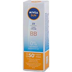 Αντηλιακή κρέμα προσώπου NIVEA BB SPF 50+ (50ml)