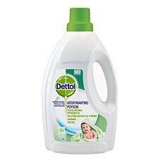 Απολυμαντικό ρούχων DETTOL χωρίς άρωμα, υγρό (1,5lt)