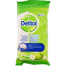 Καθαριστικά πανάκια DETTOL πράσινο μήλο