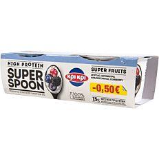 Γιαούρτι επιδόρπιο ΚΡΙ ΚΡΙ superspoon blueberry -0,50€ (2x170g)