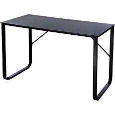 Γραφείο μαύρο με γυαλί 120x60x75cm