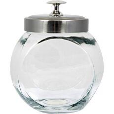 Δοχείο γυάλινο με inox καπάκι 1300lt 15x18cm