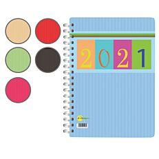 Ημερήσιο ημερολόγιο σπιράλ 12x17cm (Παρακαλούμε σημειώστε στα σχόλια την επιλογή του χρώματος που επιθυμείτε)