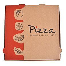 Κουτιά πίτσας κραφτ Always Fresh 30x30x3,5cm (50τεμ.)
