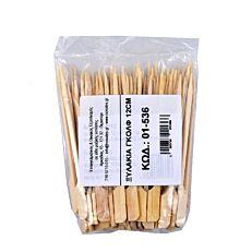 Καλαμάκια bamboo με λαβή 120mm (100τεμ.)