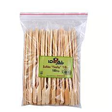 Καλαμάκια bamboo με λαβή 180mm (100τεμ.)