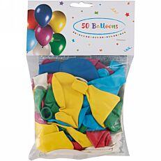 Μπαλόνια party διάφορα χρώματα 28cm 50τεμ.