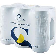 Νερό ΣΟΥΡΩΤΗ φυσικό ανθρακούχο με άρωμα λεμόνι και λάιμ (6x330ml)