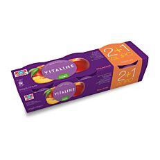 Γιαούρτι επιδόρπιο VITALINE ροδάκινο 2+1 ΔΩΡΟ (3x180g)