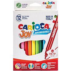 Μαρκαδόροι CARIOCA Joy λεπτοί (12τεμ.)