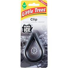 Αρωματικό αυτοκινήτου LITTLE TREES Black ice clip