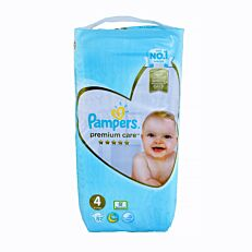 Πάνες PAMPERS premium care No.4 Jumbo (52τεμ.)