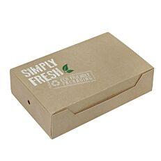 Κουτιά φαγητού GREEN ECO-FRIENDLY 22x13x5,5cm (25τεμ.)