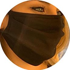Μάσκα προστασίας προσώπου υφασμάτινη μαύρη medium