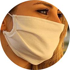 Μάσκα προστασίας προσώπου υφασμάτινη άσπρη medium