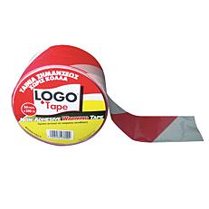 Ταινία σήμανσης LOGO κόκκινη-λευκή 50x200m