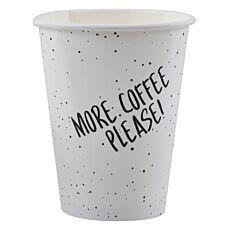 Ποτήρι χάρτινο 'MORE COFFEE' 120Ζ άσπρο 50τεμ.