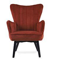 Πολυθρόνα BELLA rust red 83x76x75cm