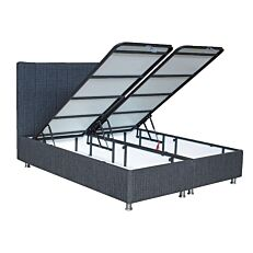 Κρεβάτι LINE γκρί σκούρο 160x200