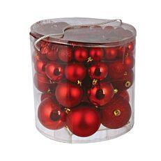 Μπάλες πλαστικές κόκκινες 4 μεγέθη 54τεμ.