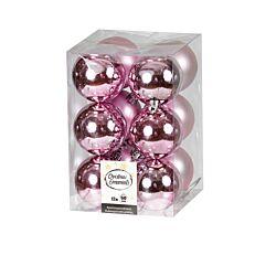 Μπάλα πλαστική ροζ 60cm 12τεμ.
