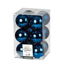 Μπάλα πλαστική μπλε 60cm 12τεμ.