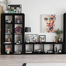 Βιβλιοθήκη KIVOS μαύρη 41,6cm