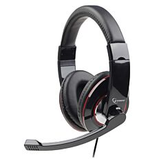 Στερεοφωνικά ακουστικά USB, γυαλιστερό μαύρο χρώμα