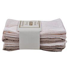 Πετσέτες κουζίνας ιβουάρ-μπεζ σετ 4 τεμάχια (30x30cm)