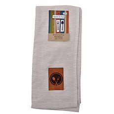 Πετσέτα σερβιτόρου πολύριγη μπεζ (40x60cm)