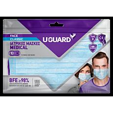 Μάσκα προσώπου χειρουργική UGUARD classic 10τεμ.