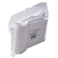 Πιρούνια λευκά ΡΡ (100τεμ.)