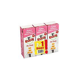 Κρέμα γάλακτος ADORO per pasta 15% λιπαρά 2+1 Δώρο (3x200ml)