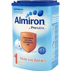 Γάλα σε σκόνη ALMIRON 1 για παιδιά από 0 έως 6 μηνών (800g)