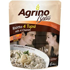 Ρύζι AGRINO bistro risotto 4 τυριά (200g)