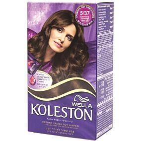 Βαφή μαλλιών WELLA Koleston καστανό χρυσαφί no.5/37 με κρέμα αναζωογόνησης χρώματος (50ml)