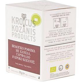 Αφέψημα KROCUS KOZANIS κρόκος Κοζάνης βιολογικό (bio) (10τεμ.)