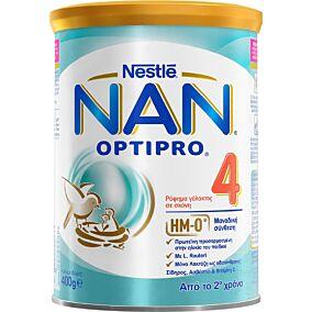 Γάλα σε σκόνη NESTLE NAN 4 optipro για παιδιά 2+ ετών (400g)