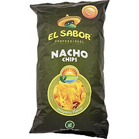 Τσιπς τορτίγια NACHO CHIPS jalapeno (500g)