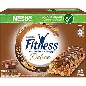 Μπάρα δημητριακών FITNESS Delice σοκολάτα γάλακτος (6x22,5g)