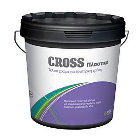 Χρώμα CROSS πλαστικό εσωτερικής χρήσης, λευκό (9lt)