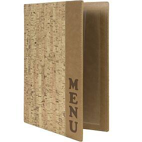 Θήκη μενού SECURIT Design-cork, Α4, 4σελίδες