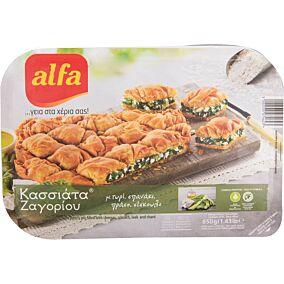 Πίτα ALFA κασσιάτα Ζαγορίου με τυρί & σπανάκι κατεψυγμένη (650g)