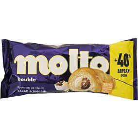 Κρουασάν MOLTO Double με γέμιση κρέμα κακάο & βανίλια (110g)