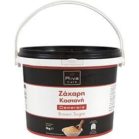 Ζάχαρη RIVA CAFÉ καστανή σε δοχείο (3kg)
