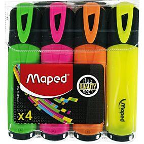 Μαρκαδόροι MAPED υπογράμμισης fluo pep's (4τεμ.)