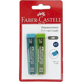 Ανταλλακτικές μύτες FABER-CASTELL για μηχανικά μολύβια 0.7 (2τεμ.)
