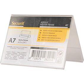 Βάση επιτραπέζια SECURIT Α7, διπλή, διαφανής