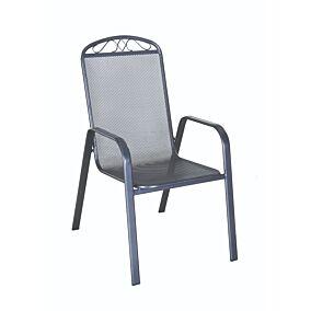 Καρέκλα MIMOSA GARDEN mesh στοιβαζόμενη με μεταλλικό πλέγμα